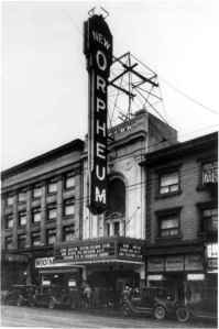 The Orpheum Theatre. Vancouver. 1927.